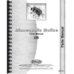 New Parts Manual Made For Minneapolis Moline Tractor Model Uts Diesel Only