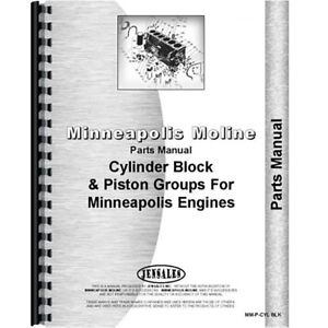New Minneapolis Moline Engine Tractor Parts Manual