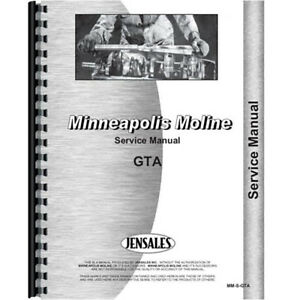 New Minneapolis Moline Gta Tractor Service Manual