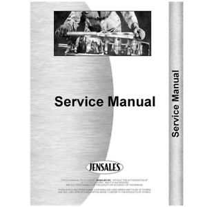 New Massey Harris 4 108 Engine Service Manual diesel
