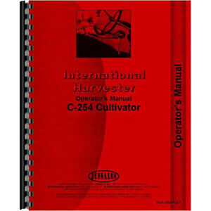 New International Harvester C254 Cultivator Operators Manual