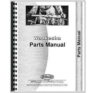 New Waukesha Engine Parts Manual 140 gk