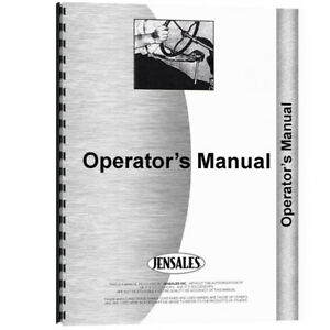 New Operators Manual Made For Minneapolis Moline Forklift Model Ma25