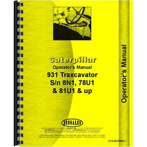 Caterpillar Traxcavator 933 42a1 Operator s Manual new