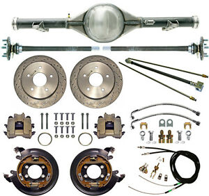 Currie 60 62 Chevy C10 5 Lug Truck Rear End Drilled Disc Brakes Lines Cables