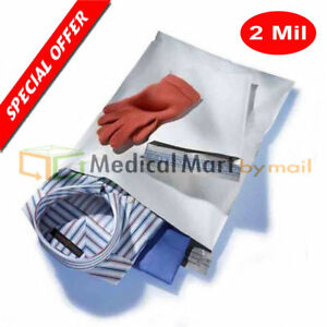 24 X 24 White Poly Mailer Shipping Envelope Plastic Self Seal 2 Mil 600 Bags