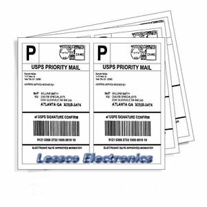 5 000 Self Adhesive Shipping Labels 2 500x2 Per Sheet 8 5 X 5 5 Ebay Ups Usps