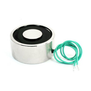 24v 176lb Electric Lifting Magnet Electromagnet Solenoid Lift Holding 65mm
