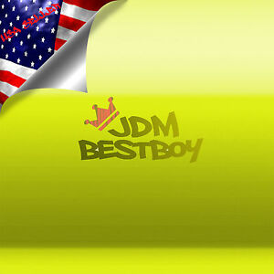 39 x540 Fluorescent Yellow Vinyl Self Adhesive Decal Plotter Sign Sticker Film