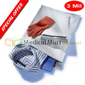 9 X 12 White Poly Mailer Shipping Envelopes Plastic Self Seal 3 Mil 9000 Pcs