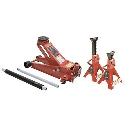 Sunex Tools 66037jpk 3 5 Ton Floor Service Jack With 6 Ton Jack Stands