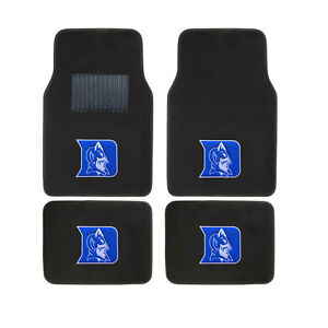 New 4pc Set Ncaa Duke Blue Devils Car Truck Front Back Carpet Floor Mats