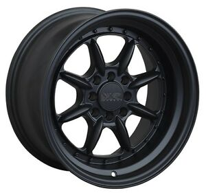 Xxr 002 5 16x8 Rims 4x100 114 3 20 Black Wheels set Of 4