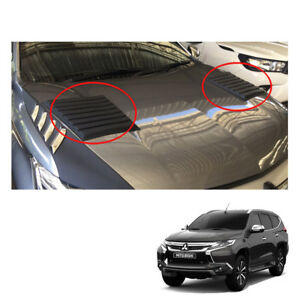 For Mitsubishi Pajero Montero Sport Bonnet Hood Scoop Cover Matt Black On 16 17