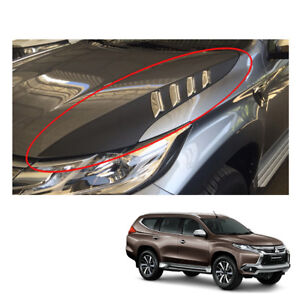 For Mitsubishi Pajero Montero Sport Side Bonnet Hood Scoop Cover Black On 16 17