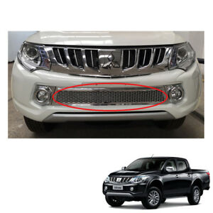 For Mitsubishi Pickup L200 Triton On 2015 2017 Front Lower Grill Grille Chrome