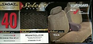 New 60 69 Ford Falcon Car Seat Covers Split Back Full Bench Montclair Tan