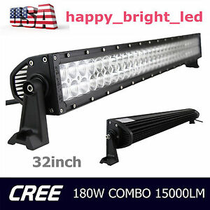 32inch 180w Led Light Bar Spot Flood Combo Boat Ford Offroad Truck Ute 30 in