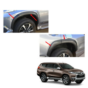 For Mitsubishi Pajero Montero Sport Fender Flares Wheel Matt Black 8pc On 16 17