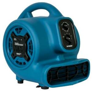 Xpower P 260at 115 volt 1 4 Hp 800 cfm Scented Air Mover W Outlets Blue