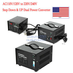 100 3000 Watt Voltage Converter Transformer Heavy Duty Step Up down Ac 110v 220v