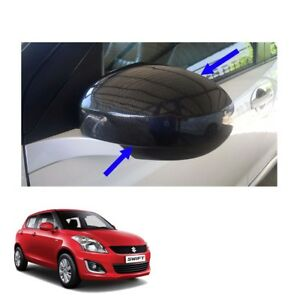 Wing Side Mirror Cover No Signal Lamp Carbon 2 Pc Fits Suzuki Swift 12 13 16