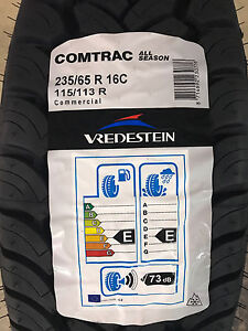 4 New 235 65 16 Lrd 8 Ply Vredestein Comtrac All Season Commercial Tires