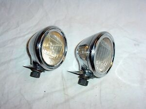 Nos Vintage Antique Fender Reflector Lights 1931 Oldsmobile Oakland Pontiac 1930