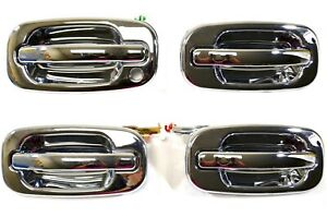 For Chevy Gmc Exterior Outside Door Handle Chrome Front Rear Complete Set Of 4