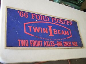 Original 1966 Ford Truck Twin I Beam Dealership Display Advertisement