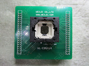 Wl ebga64 e138 3 Ebga64 E138_3 Socket For Wellon Programmer Gl064n90ffis2 Gl032