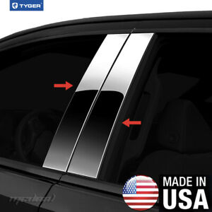 Tyger Fits 2012 2015 Ford Focus 4pc Stainless Steel Chrome Pillar Post Trim