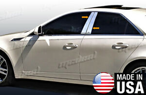 Tyger Fits 08 2013 Cadillac Cts 4pc Stainless Steel Chrome Pillar Post Trim