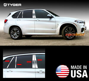 Tyger Fits 2014 2015 Bmw X5 8pc Stainless Steel Chrome Pillar Post Trim