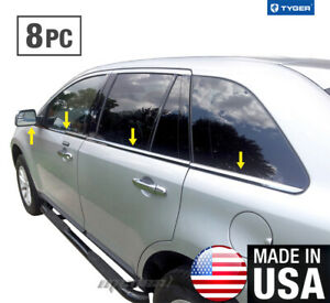 Tyger Fits 07 2014 Ford Edge 8pc Stainless Steel Chrome Window Sill Overlay