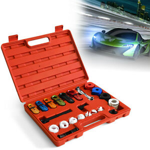 22pcs Deluxe A C Fuel Transmission Line Disconnect Tool Set Kit For Ford Gm Car
