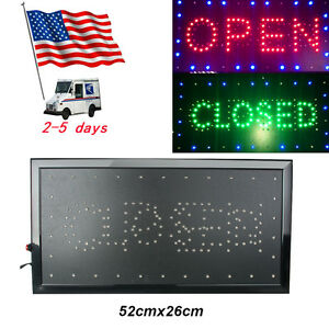 usa 8w Bright Led Store Shop Bar Business Sign 2 In1 Open closed 9 8 20 5 0 8