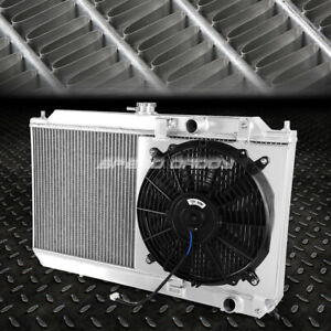 For 90 93 Acura Integra Da Db Aluminum 2 Rows Radiator W Cooling Pull Fan Shroud