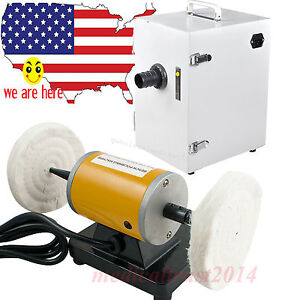 Us Jewelry Dental Bench Lather Polishing Machine Digital Vacuum Dust Collector