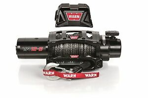 Warn 97035 12 000lb Vr12 S Winch 12v Hawse Fairlead W 90 3 8 Synthetic Rope