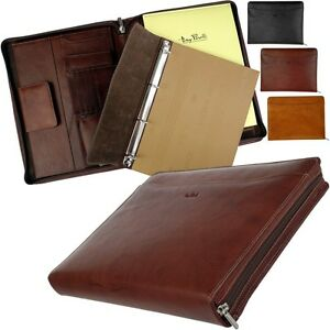 Tony Perotti A4 Writing Case Tablet Folder Conference Ring Binder Removable