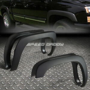 For 99 07 Silverado Sierra Paintable Matte Black Oe Style Wheel Fender Flares