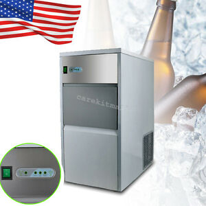 Commercial Ice Maker Portable Ice Cube Machine Restaurant Bar 25kg 55lb 240w Fda
