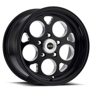 15x10 Vision 561 Sport Mag 5x120 65 Et 25 Black Rims Set Of 4
