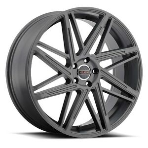 22x9 Milanni 9062 Blitz 5x120 Et15 Anthracite Rims set Of 4
