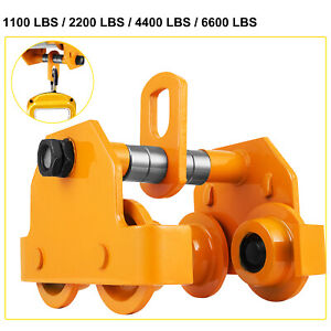 0 5t 2t 3t Ton Push Beam Trolley For Heavy Loads To 6600 Lb Fits Straight I Beam