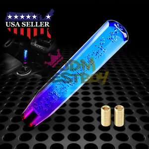 Shift Knob Stick Crystal Transparent Bubble Purple Blue Throw Gear Shifter 25cm