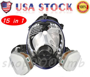 15 Pieces Facepiece Respirator Painting Spraying For 6800 Full Face Gas Mask