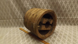 Antique Wooden 12 X 10 Flat Wheel Pulley Hit Miss Tractor Steampunk Repurpose