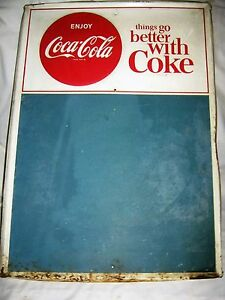USA COCA COLA SODA METAL BUTTON SIGN MENU FOOD COUNTRY CHALK BOARD NOT PORCELAIN